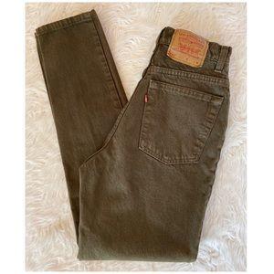 Vintage Levi's 512 High Waist Slim Tapered Jeans